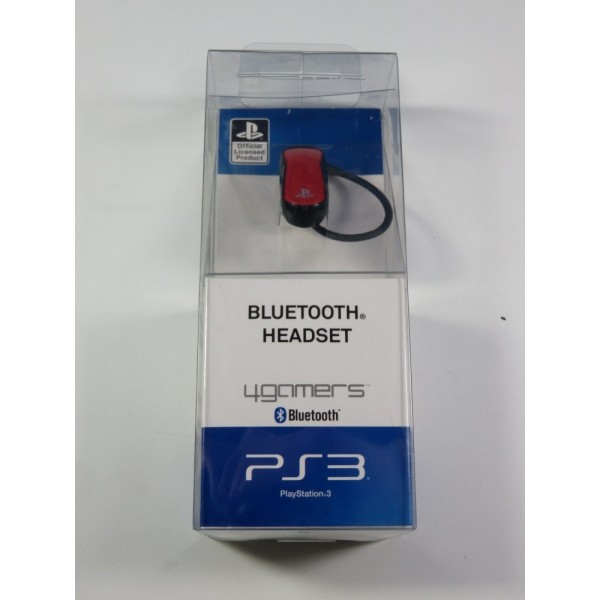 OREILLETTE BLUETOOTH HEADSET 4GAMERS PLAYSTATION 3 (PS3) NEUF - BRAND NEW