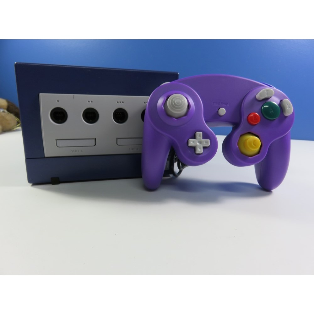 CONSOLE GAMECUBE VIOLETTE (MANETTE NON OFFICIELLE) PAL-EURO LOOSE OCCASION