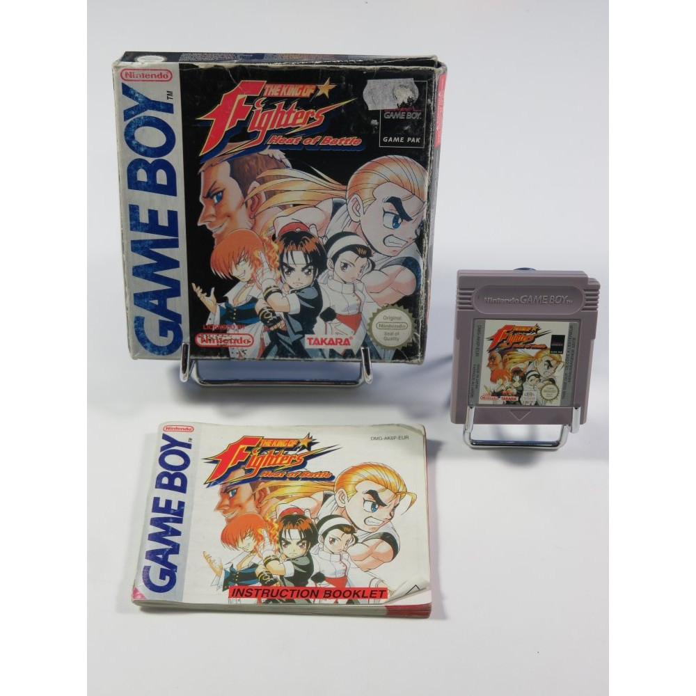 THE KING OF FIGHTERS HEAT OF BATTLE NINTENDO GAMEBOY (GB) EUR (COMPLET - GOOD CONDITION OVERALL)