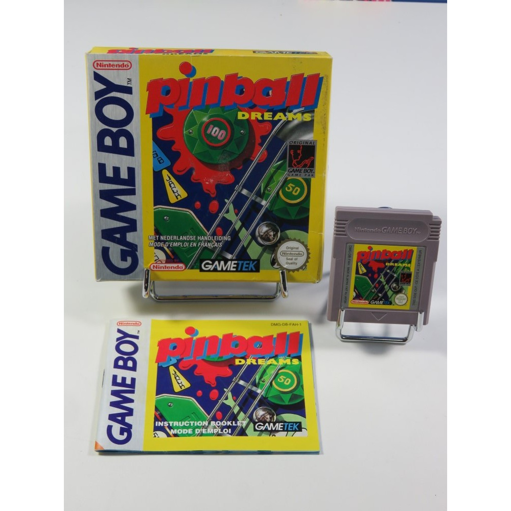 PINBALL DREAMS NINTENDO GAMEBOY (GB) FAH-1 (COMPLET - VERY GOOD CONDITION OVERALL)