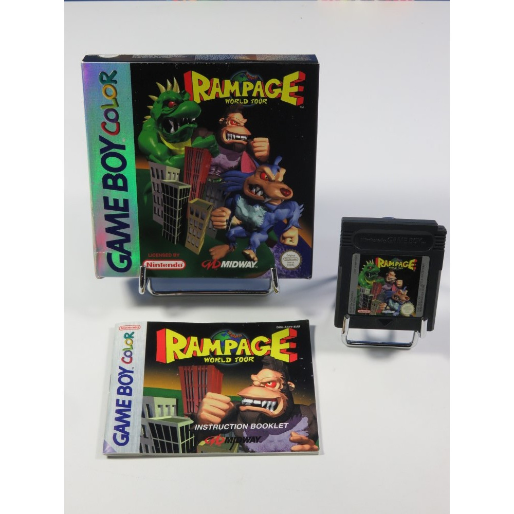 RAMPAGE WORLD TOUR NINTENDO GAMEBOY COLOR (GBC) EUR (COMPLET - VERY GOOD CONDITION)