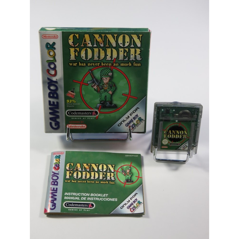 CANNON FODDER NINTENDO GAMEBOY COLOR (GBC) EUR (COMPLET - GOOD CONDITION)