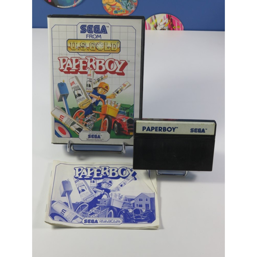 PAPERBOY SEGA MASTER SYSTEM PAL-EURO (COMPLET - GOOD CONDITION