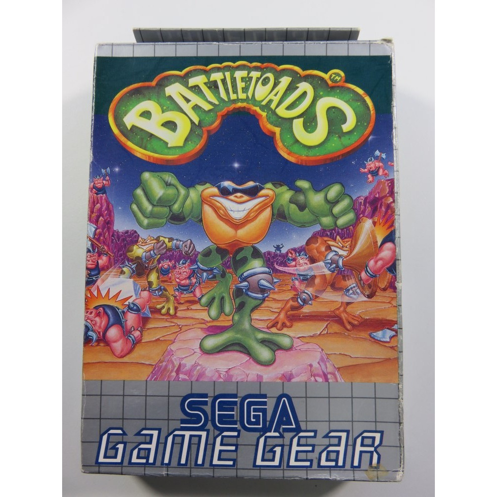 BATTLETOADS SEGA GAMEGEAR EURO (COMPLETE - GOOD CONDITION) RARE BEAT EM ALL