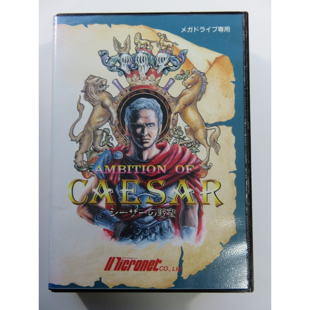 AMBITION OF CAESAR SEGA MEGADRIVE NTSC-JPN (COMPLETE - GOOD CONDITION) MICRONET 1991