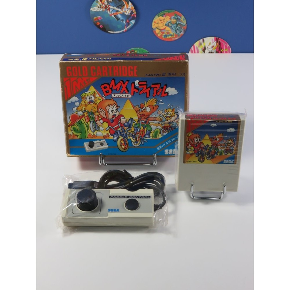 BMX TRIAL ALEX KIDD (+ CONTROLLER) SEGA MARK III NTSC-JPN (SANS NOTICE - GOOD CONDITION OVERALL)