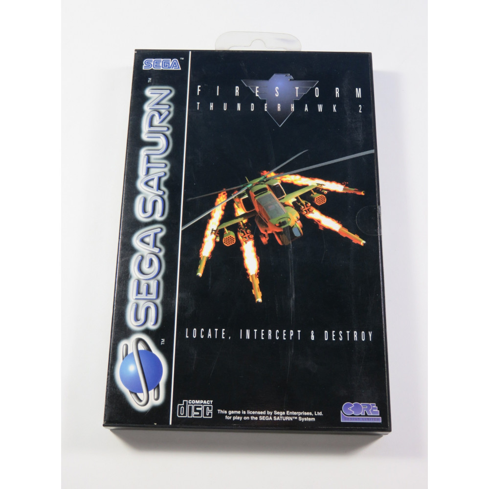 FIRESTORM THUNDER HAWK 2 SEGA SATURN PAL-EURO (COMPLET - GOOD CONDITION)