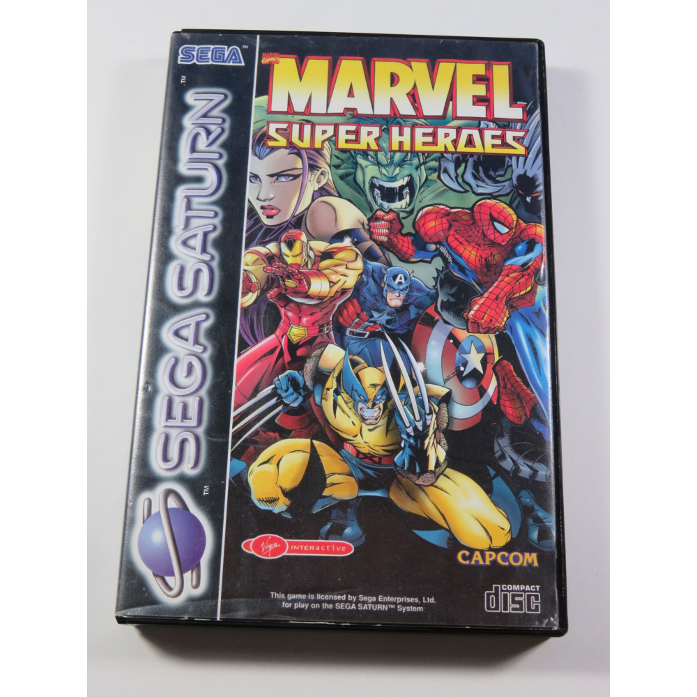 MARVEL SUPER HEROES SEGA SATURN PAL-EURO (SANS NOTICE - GOOD CONDITION OVERALL)