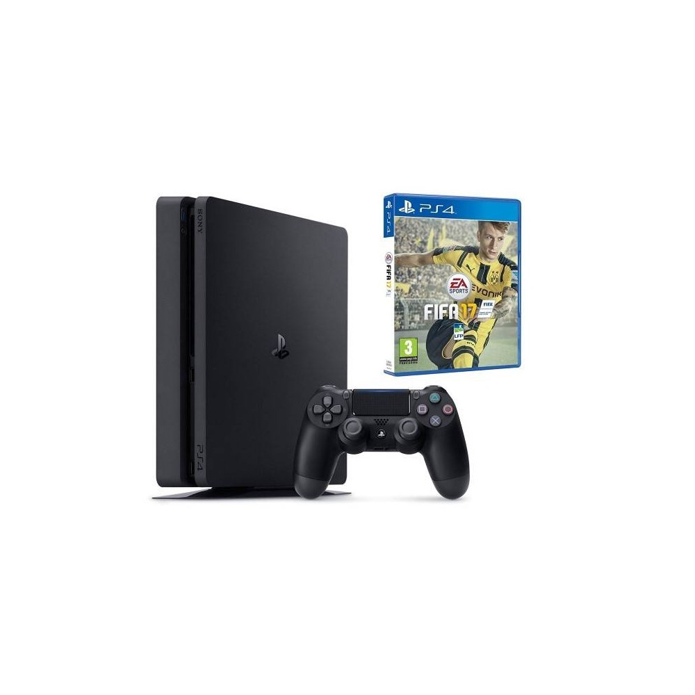 CONSOLE PS4 SLIM 1 TO + FIFA 17 FR NEW