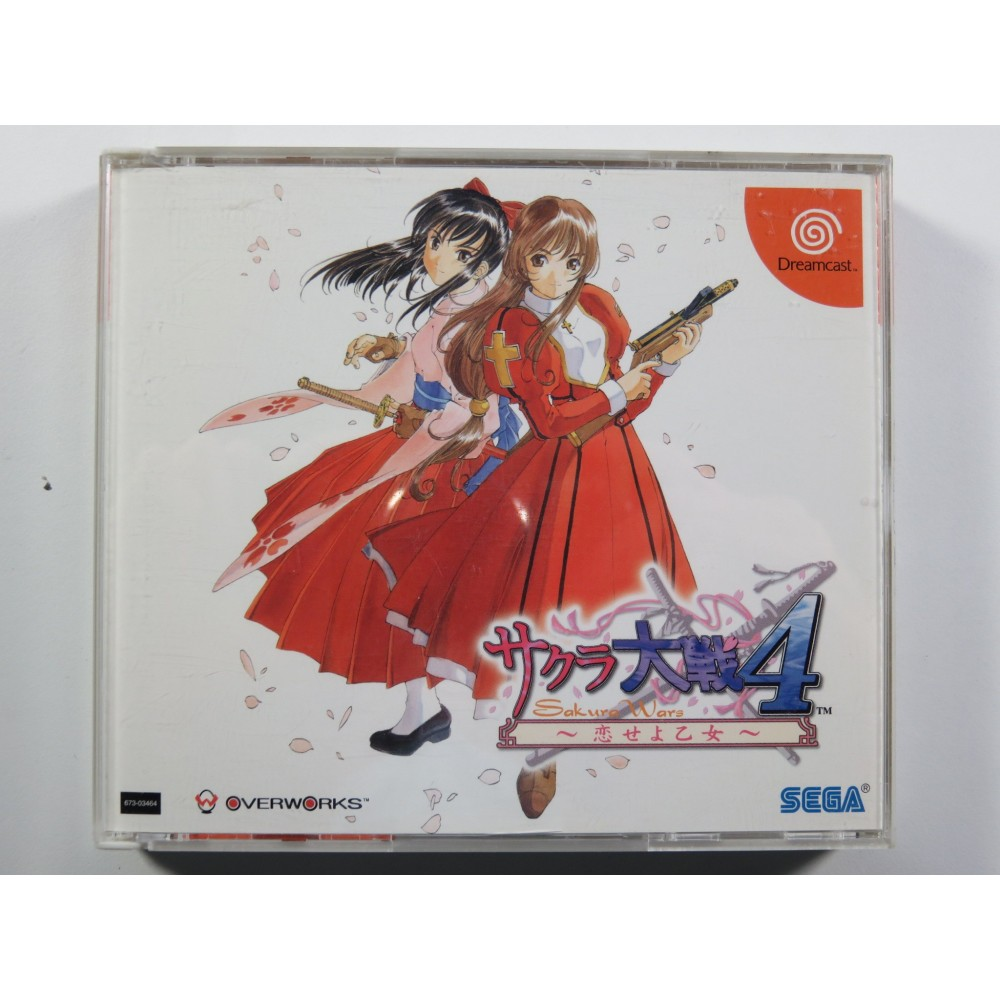 SAKURA TAISEN 4 (SAKURA WARS) SEGA DREAMCAST NTSC-JPN (COMPLETE WITH SPIN CARD - GOOD CONDITION)