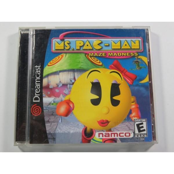 MS. PAC-MAN MAZE DARKNESS SEGA DREAMCAST NTSC-USA (COMPLETE)