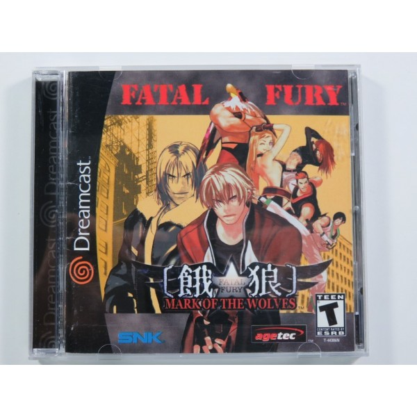 FATAL FURY - MARK OF THE WOLVES SEGA DREAMCAST NTSC-USA (COMPLETE - GOOD CONDITION) SNK 2D FIGHTING