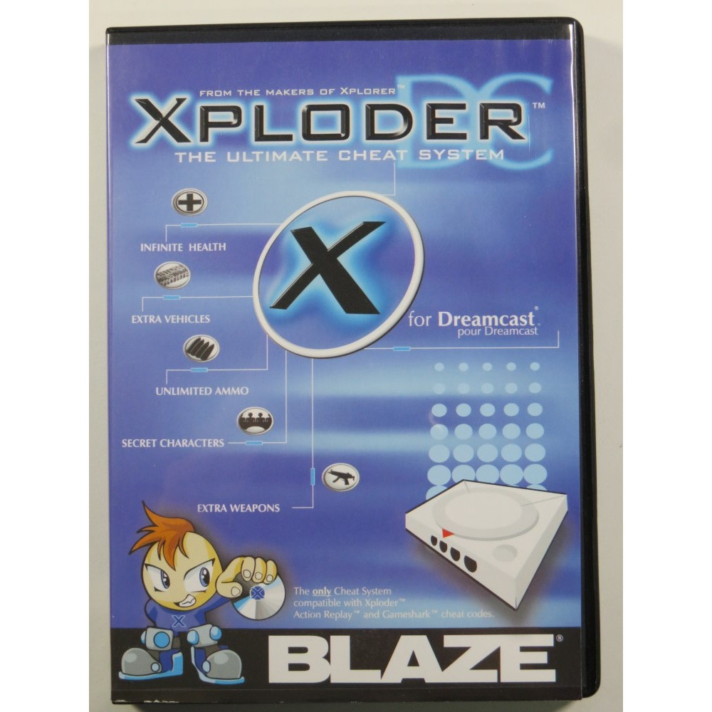 XPLODER THE ULTIMATE CHEAT SYSTEM FOR SEGA DREAMCAST VERSION PAL NEW