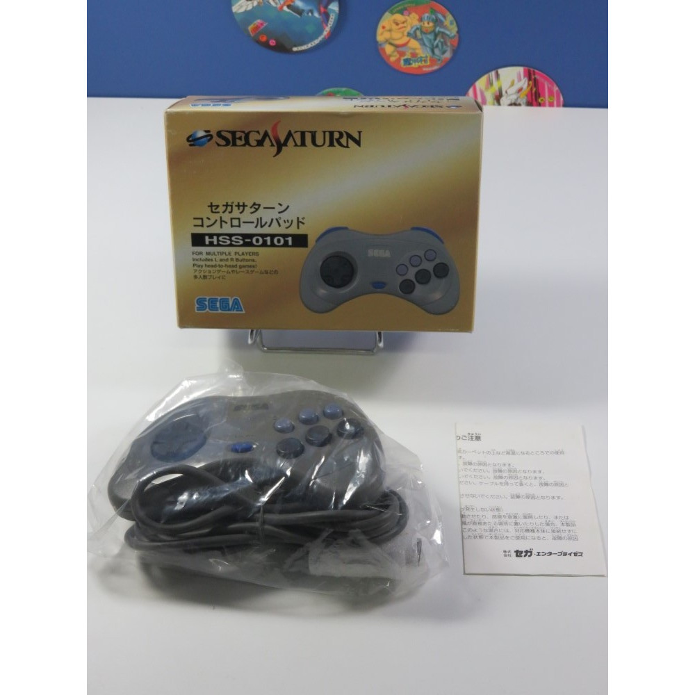 CONTROLLER - MANETTE SATURN HSS-0101 GREY SEGA SATURN JPN (COMPLET - VERY GOOD CONDITION)