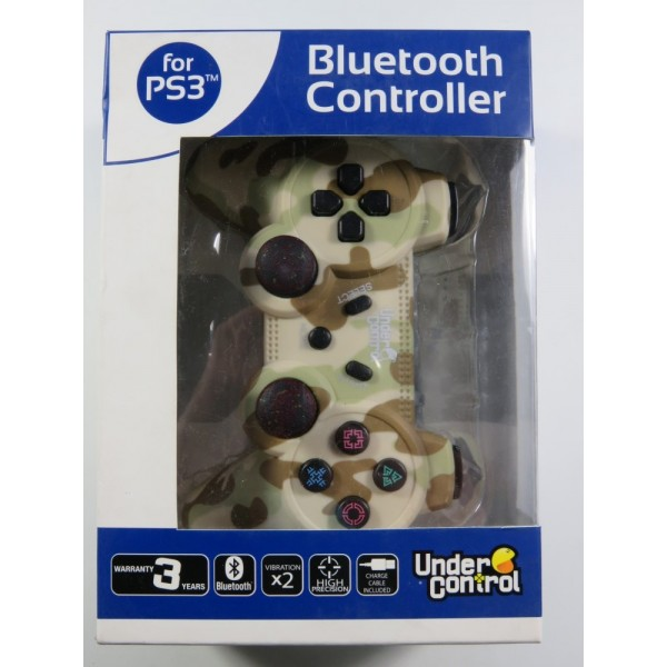 CONTROLLER PLAYSTATION 3 (PS3) BLUETOOTH CAMOUFLAGE UNDER CONTROL MANETTE SANS FIL NEW