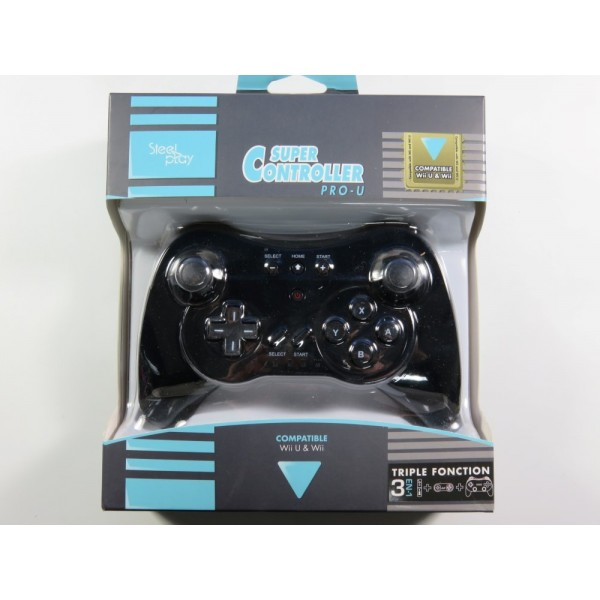 SUPER CONTROLLER PRO-U STEEL PLAY WIIU NEW