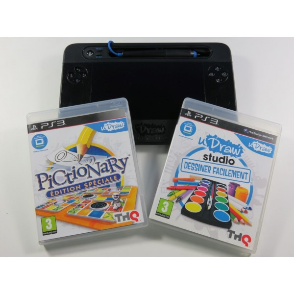 PICTIONARY & U-DRAW STUDIO (+ TABLETTE) PLAYSTATION 3 (PS3) EURO (SANS BOITE NI NOTICE)