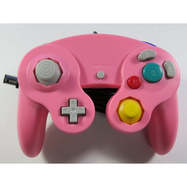 CONTROLLER GAMECUBE NON OFFICIEL ROSE SANS BOITE NI NOTICE