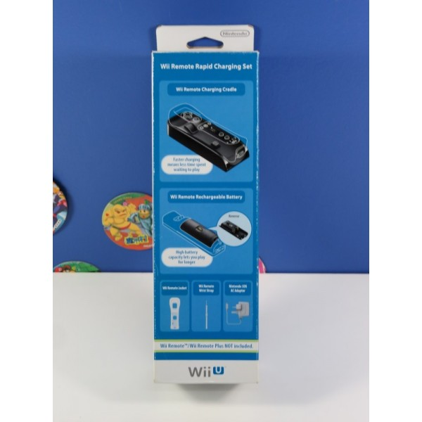 WII REMOTE RAPID CHARGING SET NINTENDO WIIU PAL-UK NEUF - BRAND NEW