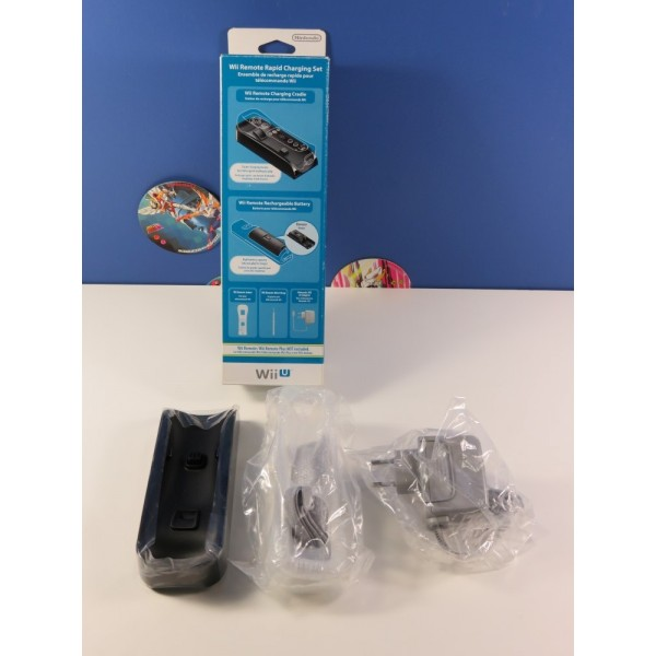 WII REMOTE RAPID CHARGING (RECHARGE RAPIDE) SET NINTENDO WIIU PAL-EURO (COMPLET - VERY GOOD CONDITION)