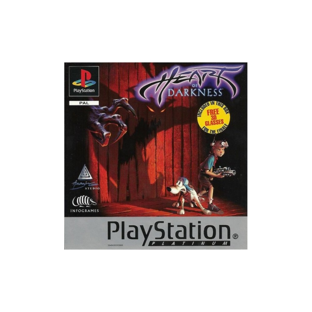 HEART OF DARKNESS PLATINUM PS1 PAL-FR OCCASION
