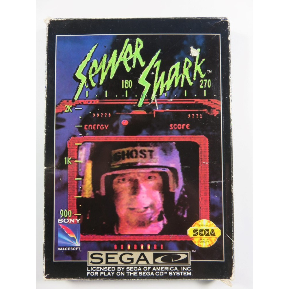 SEWER SHARK SEGA-CD NTSC-USA (COMPLETE - GOOD CONDITION) SONY DIGITAL PICTURES