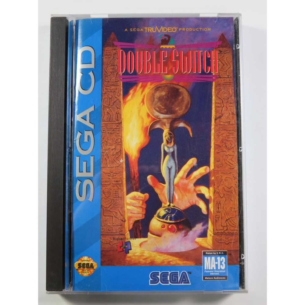 DOUBLE SWITCH SEGA CD NTSC-USA (COMPLETE - VERY GOOD CONDITION) A SEGA TRUVIDEO PRODUCTION