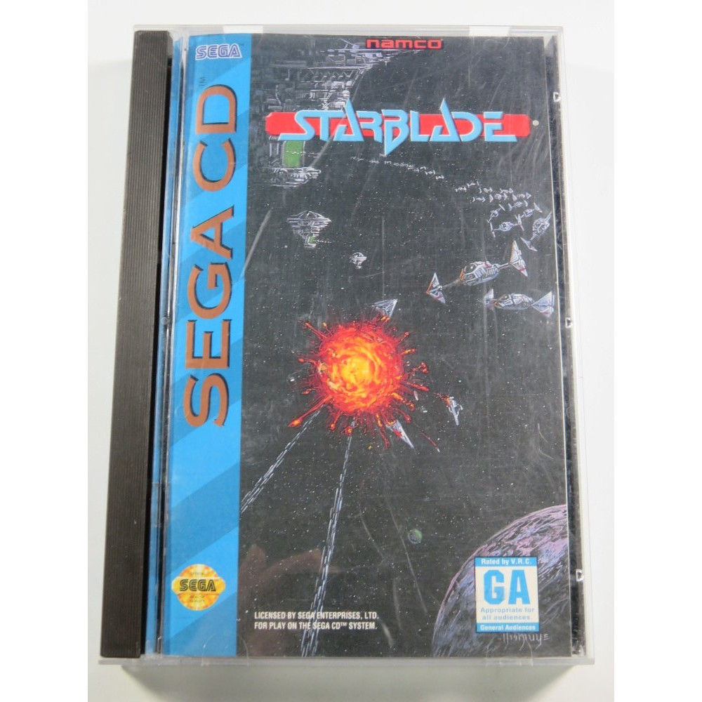 STARBLADE SEGA-CD NTSC-USA (COMPLETE - GOOD CONDITION) NAMCO 3D SHOOTING
