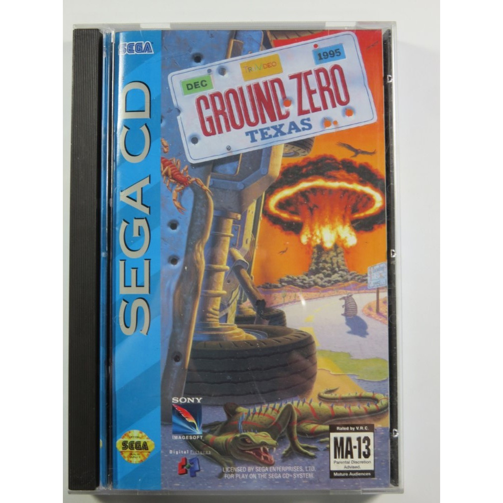 GROUND ZERO TEXAS SEGA-CD NTSC-USA (COMPLETE - VERY GOOD CONDITION) SONY DIGITAL PICTURES