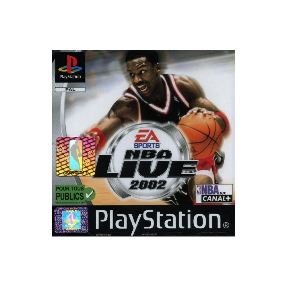 NBA LIVE 2002 PS1 PAL-FR OCCASION