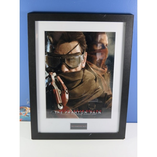 CADRE METAL GEAR SOLID V - THE PHANTOM PAIN COLLECTOR PRINT 30X40 GOGGLES MIX NEUF - BRAND NEW