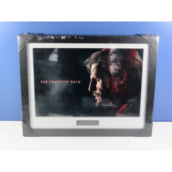 CADRE METAL GEAR SOLID V - THE PHANTOM PAIN COLLECTOR PRINT 30X40 SNAKE MIX NEUF - BRAND NEW