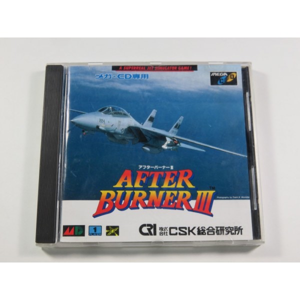 AFTER BURNER III SEGA MEGA-CD NTSC-JPN (COMPLETE - GOOD CONDITION)
