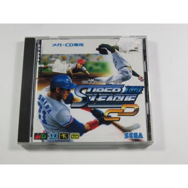 PRO YAKYUU SUPER LEAGUE CD SEGA MEGA-CD NTSC-JPN (COMPLETE - GOOD CONDITION OVERALL)