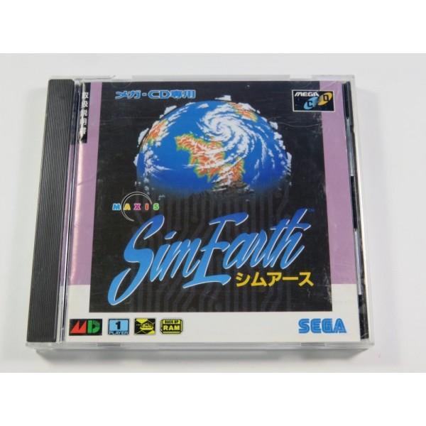 SIM EARTH SEGA MEGA-CD NTSC-JPN (COMPLETE)