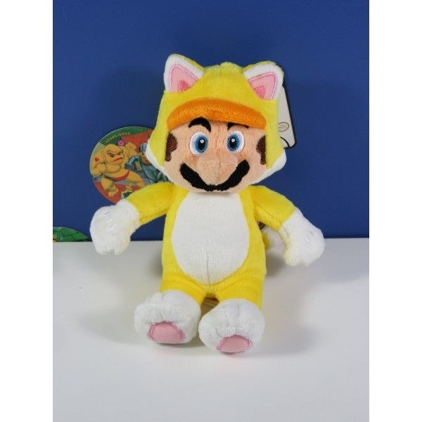 PELUCHE SUPER MARIO - YELLOW CAT - GOODIES 15 CM EURO NEUF - BRAND NEW