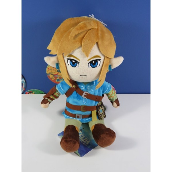 PELUCHE SAN-EI THE LEGEND OF ZELDA BREATH OF THE WILD LINK 28 CM EURO NEUF - BRAND NEW