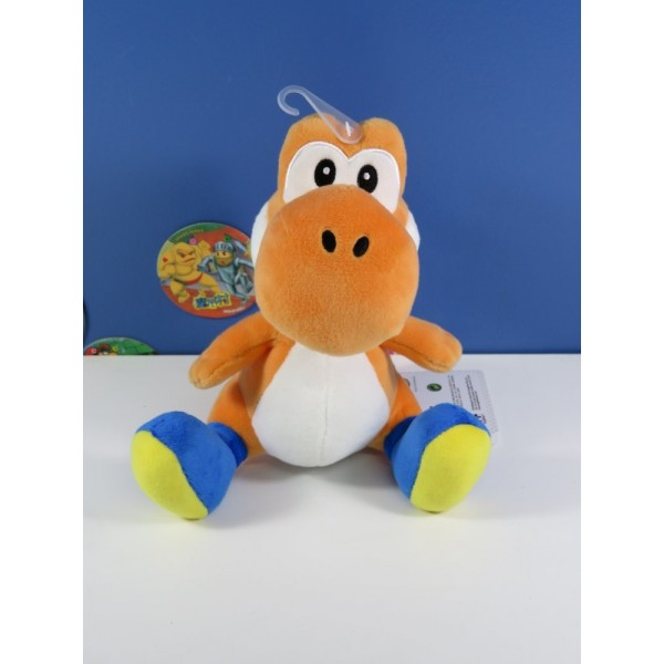 PELUCHE SUPER MARIO ORANGE YOSHI (S) EURO NEUF - BRAND NEW