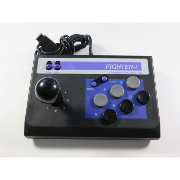 ARCADE STICK - PROFESSIONAL JOYSTICK FIGHTER-1 NON OFFICIAL SEGA MEGADRIVE EURO (WITHOUT BOX OR MANUAL)