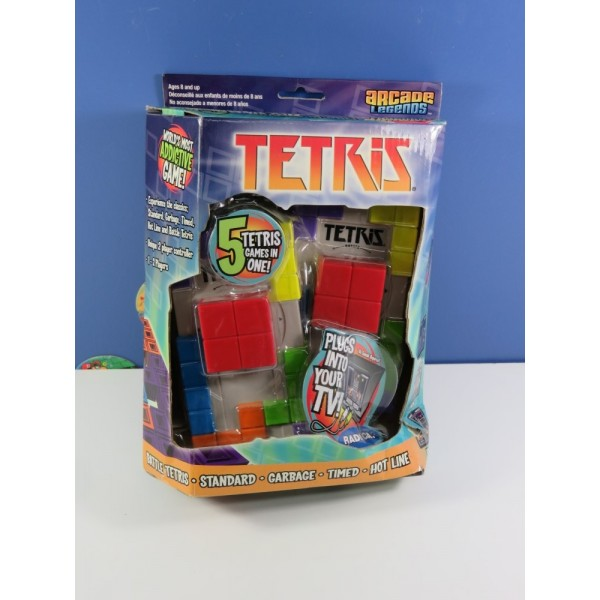 ARCADE LEGENDS TETRIS (PLUGS INTO TV)(5 TETRIS GAMES IN ONE) EURO NEUF - BRAND NEW