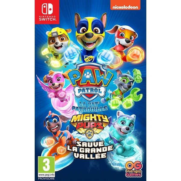 PAW PATROL LA PAT PATROUILLE MIGHTY PUPS SAUVE LA GRANDE VALLEE SWITCH EURO FR NEW