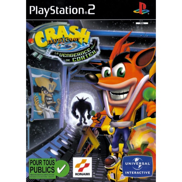 CRASH BANDICOOT LA VENGEANCE DE CORTEX PS2 PAL-FR OCCASION (SANS NOTICE)