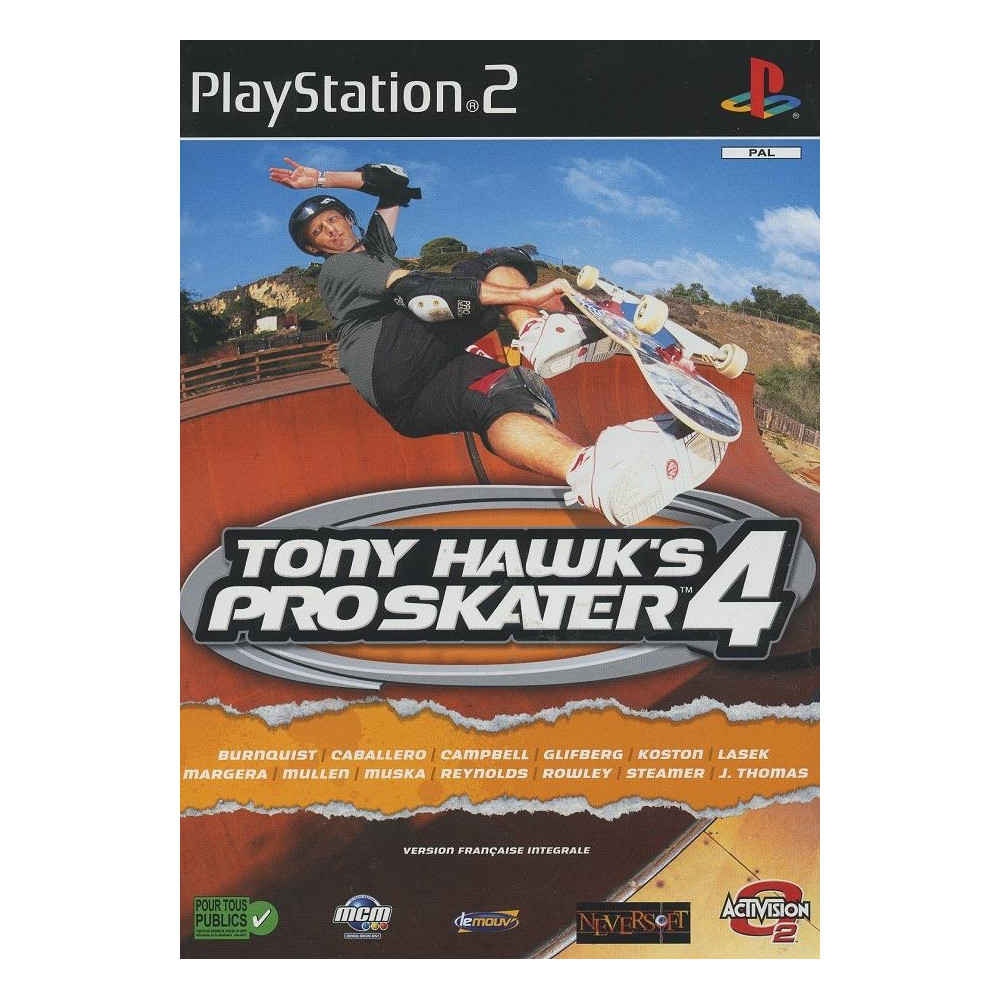 TONY HAWK S PRO SKATER 4 PS2 PAL-FR OCCASION SANS NOTICE