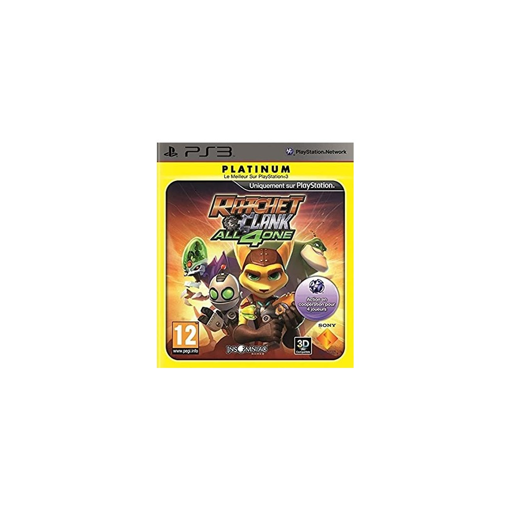 RATCHET & CLANK ALL 4 ONE PLATINUM PS3 FR OCCASION