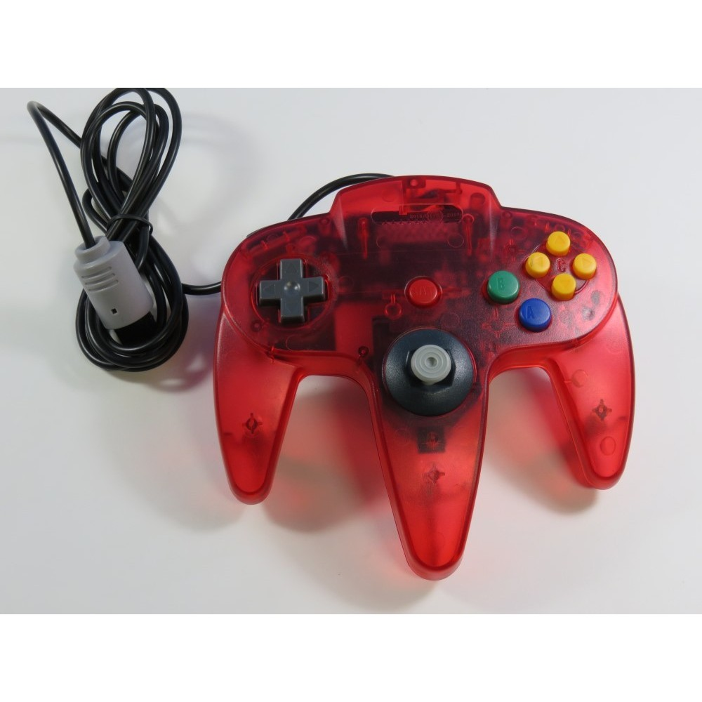 CONTROLLER NINTENDO 64 NON OFFICIEL CLEAR RED NEW