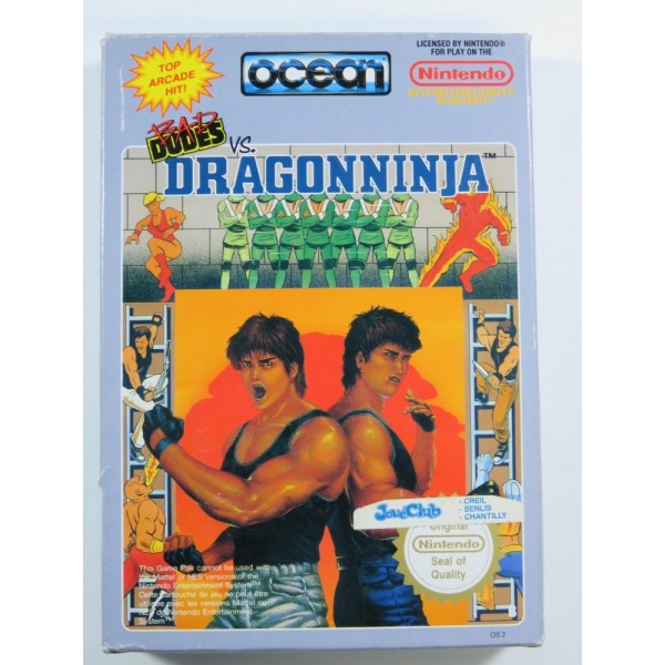 BAD DUDES VS DRAGONNINJA NINTENDO NES PAL-B (FRA) (COMPLETE - GOOD CONDITION)
