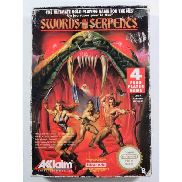SWORDS AND SERPENTS NINTENDO NES PAL-B (FRA) (SANS NOTICE - GOOD CONDITION OVERALL)
