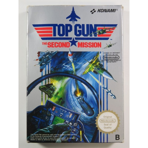 TOP GUN : THE SECOND MISSION NINTENDO NES PAL-B (FRA) (SANS NOTICE- GOOD CONDITION)