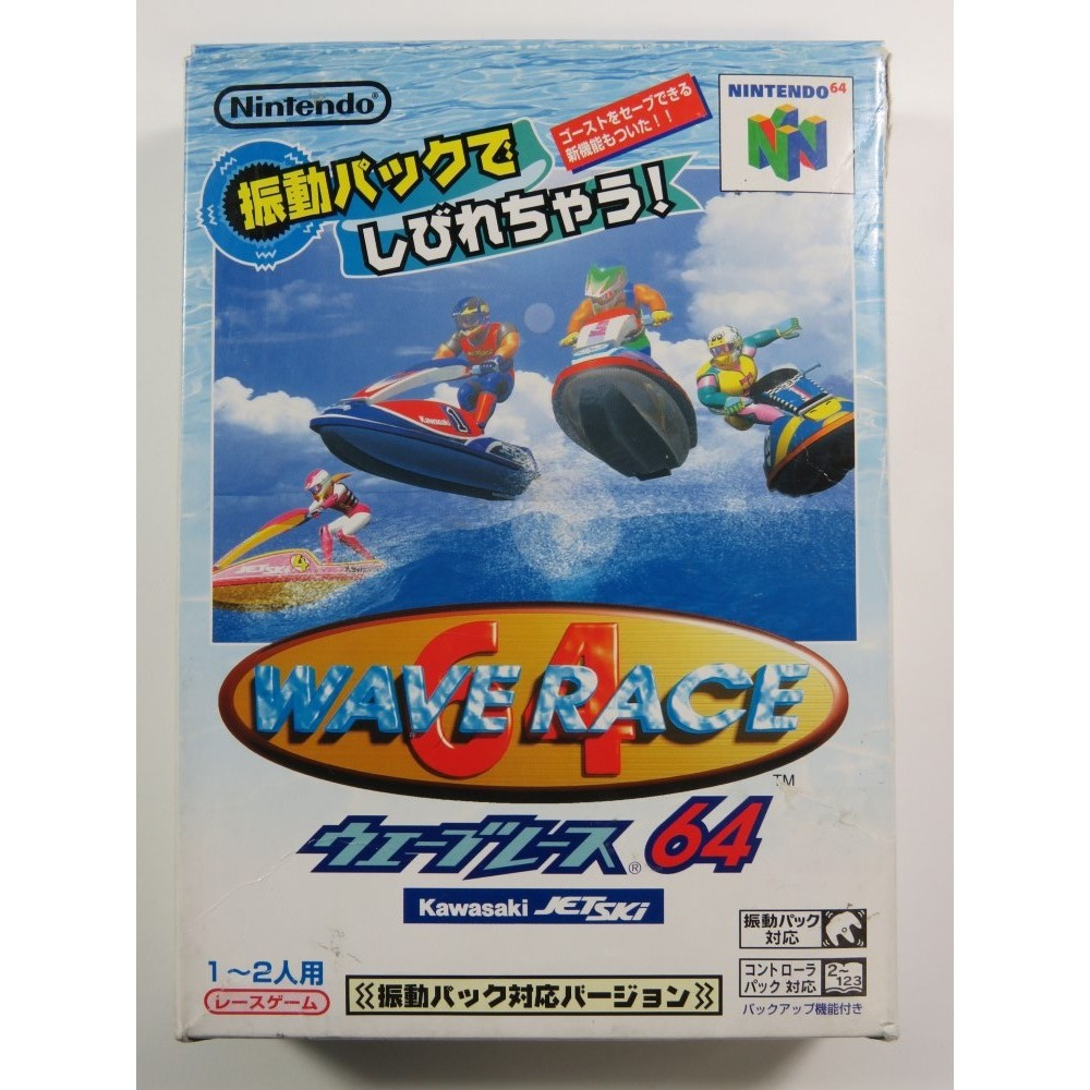 WAVE RACE 64 (SHINDOU EDITION - VERSION RUMBLE PACK) N64 NTSC-JPN (COMPLETE - GOOD CONDITION OVERALL)