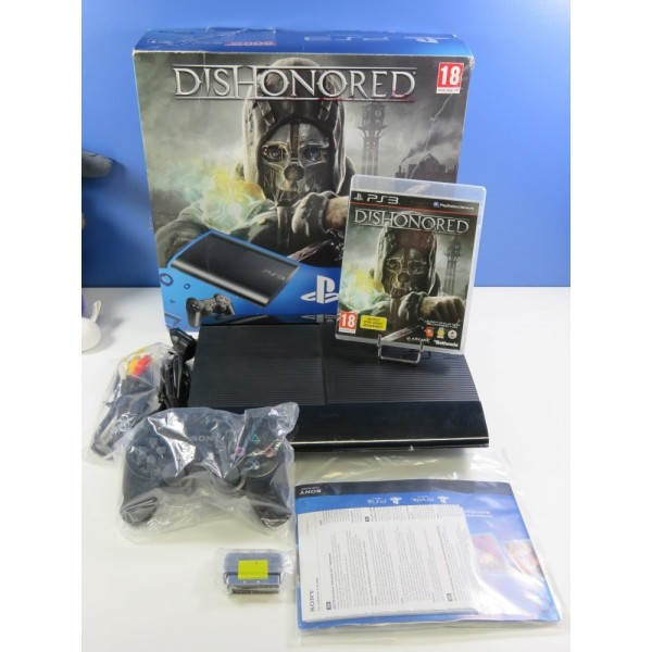 CONSOLE PS3 ULTRA SLIM DISHONORED 500 GB BLACK CECH-4004A EURO (BOXED - GOOD CONDITION)(SER.0027445841-0316294)
